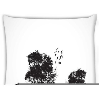 Snoogg  vector grunge background with trees  Digitally Printed Cushion Cover Pillow 16 x 16 Inch