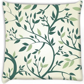 Snoogg  vector seamless pattern with branches Digitally Printed Cushion Cover Pillow 16 x 16 Inch