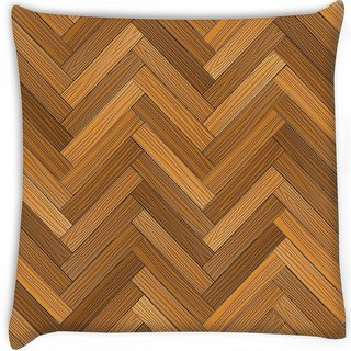Snoogg  vector wood parquet floor Digitally Printed Cushion Cover Pillow 16 x 16 Inch