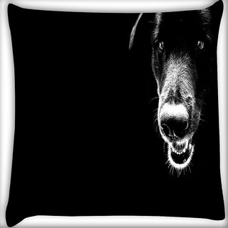 Snoogg Dog Digitally Printed Cushion Cover Pillow 16 x 16 Inch
