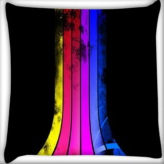 Snoogg Colorful Rays Digitally Printed Cushion Cover Pillow 16 x 16 Inch