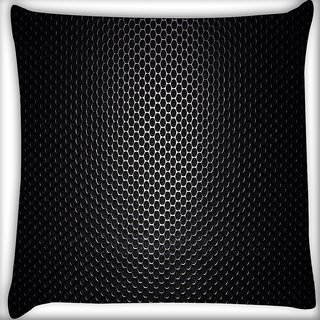 Snoogg Black Spots Digitally Printed Cushion Cover Pillow 16 x 16 Inch