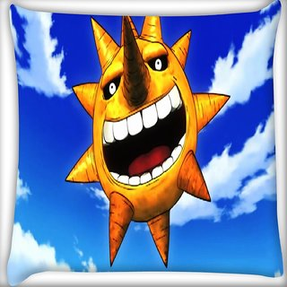 Snoogg Ugly Sun Digitally Printed Cushion Cover Pillow 16 x 16 Inch