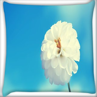 Snoogg Beautiful Flower Images Digitally Printed Cushion Cover Pillow 16 x 16 Inch