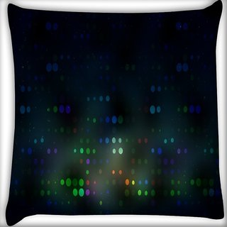 Snoogg Blurred Dots Digitally Printed Cushion Cover Pillow 16 x 16 Inch