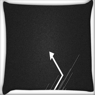 Snoogg Go Left Digitally Printed Cushion Cover Pillow 16 x 16 Inch