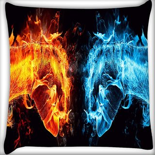 Snoogg Hand Cool L Digitally Printed Cushion Cover Pillow 16 x 16 Inch
