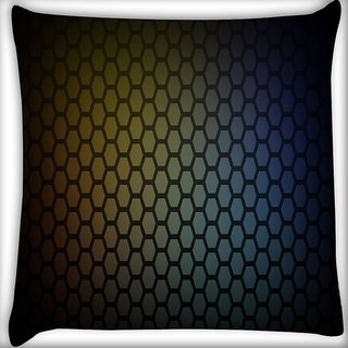 Snoogg Honeycomb Pattern Digitally Printed Cushion Cover Pillow 16 x 16 Inch