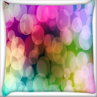 Snoogg Lite Color Bubbles Digitally Printed Cushion Cover Pillow 16 x 16 Inch