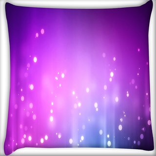Snoogg Purple Background Pattern Design Digitally Printed Cushion Cover Pillow 16 x 16 Inch
