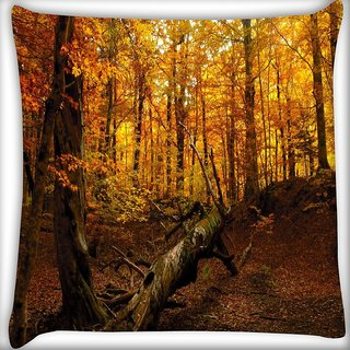 Snoogg Broken Tree Digitally Printed Cushion Cover Pillow 16 x 16 Inch