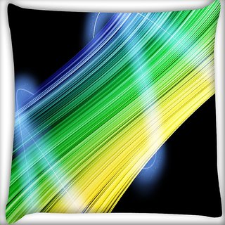Snoogg Abstract Multicolor Design Digitally Printed Cushion Cover Pillow 16 x 16 Inch
