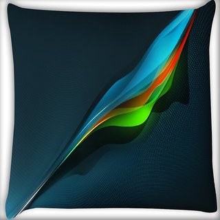 Snoogg Abstract Multicolor Pattern Digitally Printed Cushion Cover Pillow 16 x 16 Inch