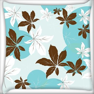 Snoogg Pink Flowers Digitally Printed Cushion Cover Pillow 20 x 20 Inch