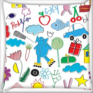 Snoogg Red Sky Digitally Printed Cushion Cover Pillow 20 x 20 Inch