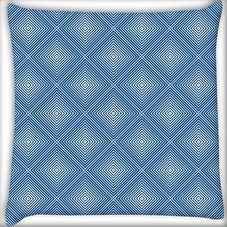 Snoogg Blue Pattern Digitally Printed Cushion Cover Pillow 20 x 20 Inch
