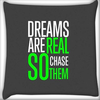 Snoogg Chase them Digitally Printed Cushion Cover Pillow 16 x 16 Inch