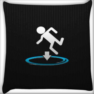 Snoogg I fall into shit Digitally Printed Cushion Cover Pillow 16 x 16 Inch