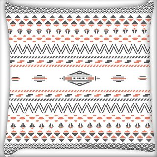 Snoogg Minimal zoyd aztec Digitally Printed Cushion Cover Pillow 16 x 16 Inch
