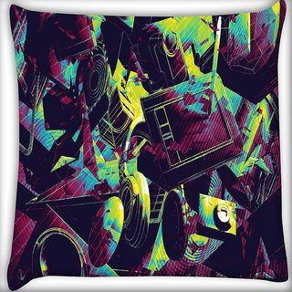 Snoogg Camera life Digitally Printed Cushion Cover Pillow 16 x 16 Inch