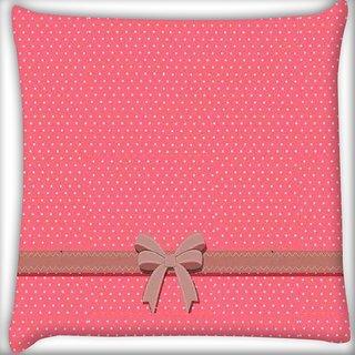 Snoogg Gift Polka Digitally Printed Cushion Cover Pillow 16 x 16 Inch