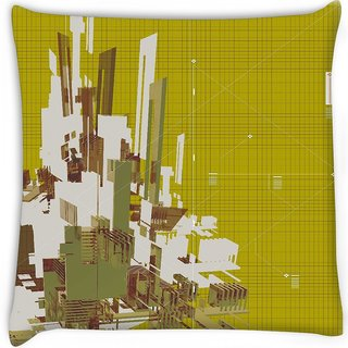 Snoogg  3d rendered abstract background  Digitally Printed Cushion Cover Pillow 16 x 16 Inch