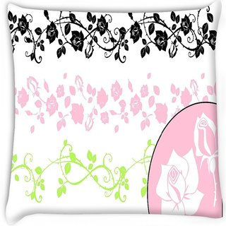 Snoogg  a set of decorative brushes all the brushes are separable from the backgrou  Digitally Printed Cushion Cover Pillow 16 x 16 Inch