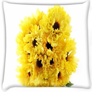 Snoogg  floral background  Digitally Printed Cushion Cover Pillow 16 x 16 Inch