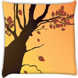 Snoogg  floral illustration  Digitally Printed Cushion Cover Pillow 16 x 16 Inch