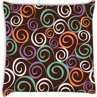 Snoogg  floral seamless pattern Digitally Printed Cushion Cover Pillow 16 x 16 Inch