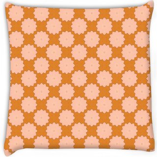Snoogg  flora pattern design  Digitally Printed Cushion Cover Pillow 16 x 16 Inch
