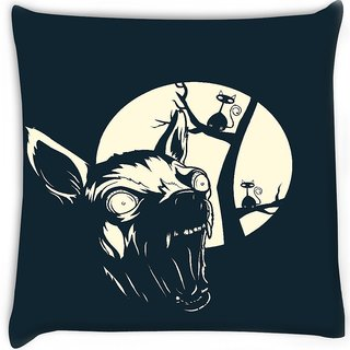 Snoogg  funny t shirt design with angry chihuahua Digitally Printed Cushion Cover Pillow 16 x 16 Inch