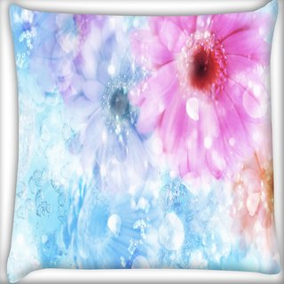 Snoogg Colorful Sunflower Digitally Printed Cushion Cover Pillow 16 x 16 Inch