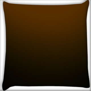 Snoogg Brown Digitally Printed Cushion Cover Pillow 16 x 16 Inch