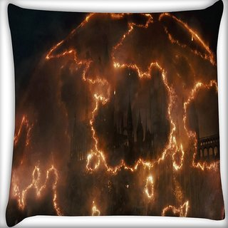 Snoogg Castle Digitally Printed Cushion Cover Pillow 16 x 16 Inch
