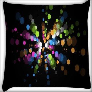 Snoogg Circulo Explosao Colorida Digitally Printed Cushion Cover Pillow 16 x 16 Inch