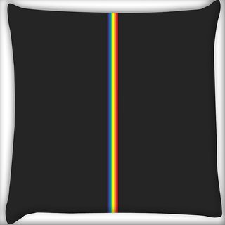 Snoogg Colored Stripes Abstract Digitally Printed Cushion Cover Pillow 16 x 16 Inch
