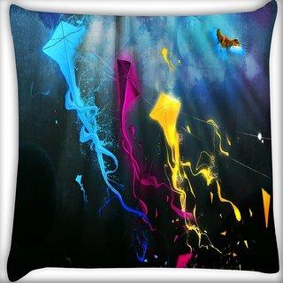 Snoogg Kreativni Grafika Digitally Printed Cushion Cover Pillow 16 x 16 Inch