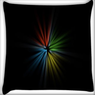 Snoogg Light Flower Digitally Printed Cushion Cover Pillow 16 x 16 Inch
