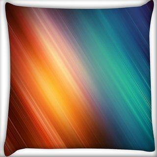 Snoogg Colourful Layers Digitally Printed Cushion Cover Pillow 16 x 16 Inch