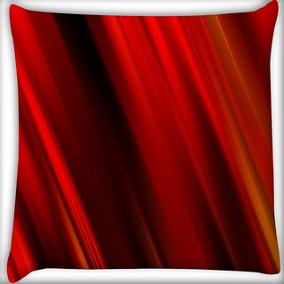 Snoogg Abstract Red Colour Digitally Printed Cushion Cover Pillow 16 x 16 Inch