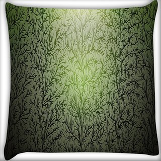 Snoogg Texture Drawn Wood Branches Digitally Printed Cushion Cover Pillow 16 x 16 Inch