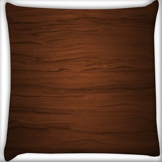 Snoogg Wood Texture Digitally Printed Cushion Cover Pillow 16 x 16 Inch
