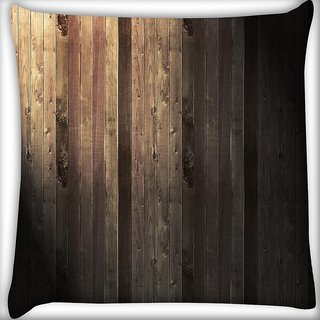 Snoogg Abstract Metallic Wood Digitally Printed Cushion Cover Pillow 16 x 16 Inch