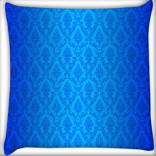 Snoogg Abstract Blue Pattern Design Digitally Printed Cushion Cover Pillow 16 x 16 Inch