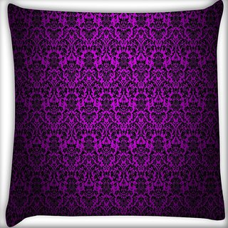 Snoogg Dark Pink Pattern Design Digitally Printed Cushion Cover Pillow 16 x 16 Inch
