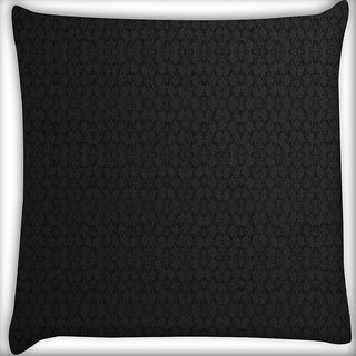 Snoogg Black Wall Pattern Design Digitally Printed Cushion Cover Pillow 16 x 16 Inch