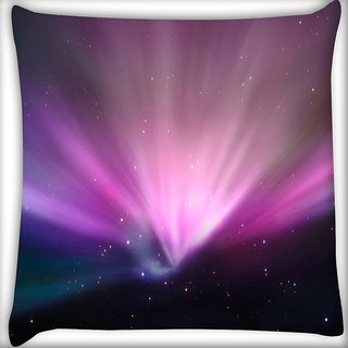 Snoogg Abstract Galaxy Design Digitally Printed Cushion Cover Pillow 16 x 16 Inch