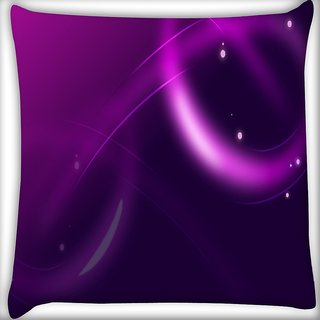 Snoogg Neon Purple Design Digitally Printed Cushion Cover Pillow 16 x 16 Inch