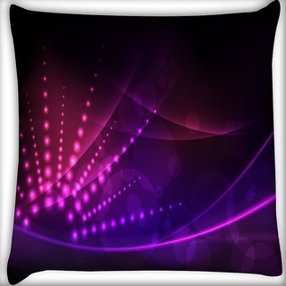 Snoogg Abstract Neon Design Digitally Printed Cushion Cover Pillow 16 x 16 Inch